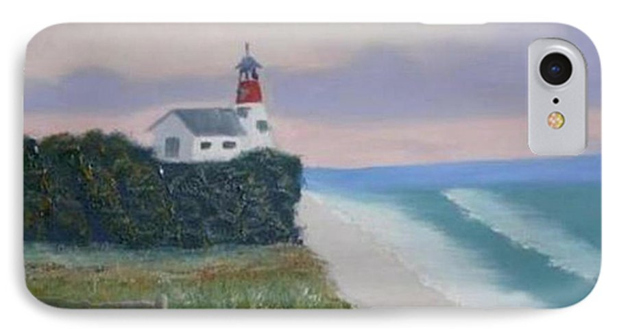 Seascape IPhone 7 Case featuring the painting Peace Sold by R B