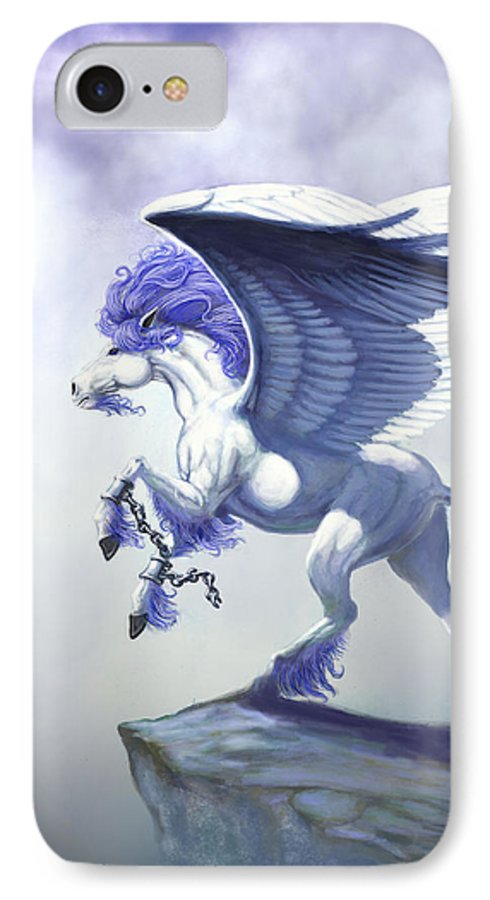 Pegasus.fantasy IPhone 7 Case featuring the digital art Pegasus Unchained by Stanley Morrison