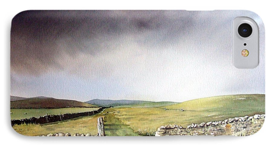 Landscape IPhone 7 Case featuring the painting Pennine Way by Paul Dene Marlor