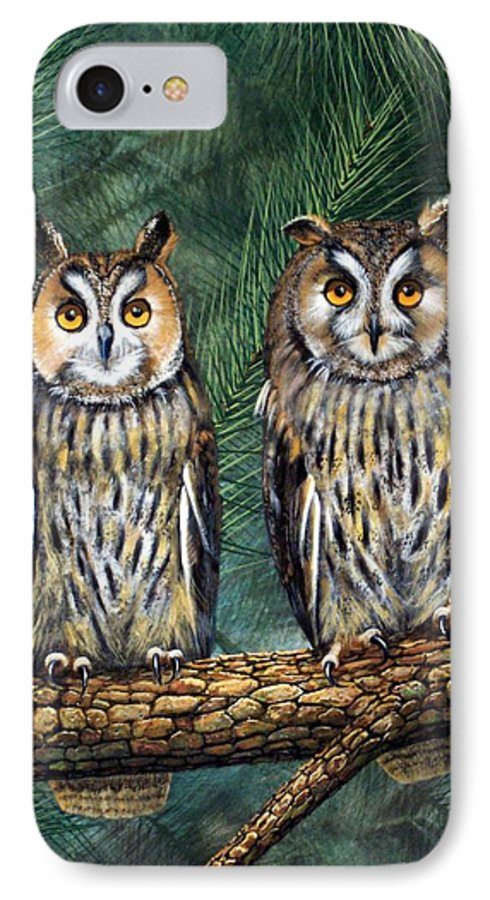Wildlife IPhone 7 Case featuring the painting Perfect Strangers by Frank Wilson