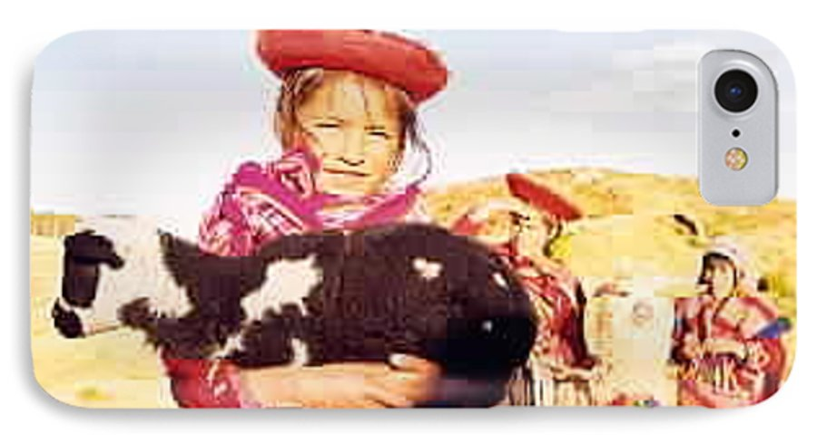 Peru IPhone 7 Case featuring the photograph Peruvian Girl by Kathy Schumann