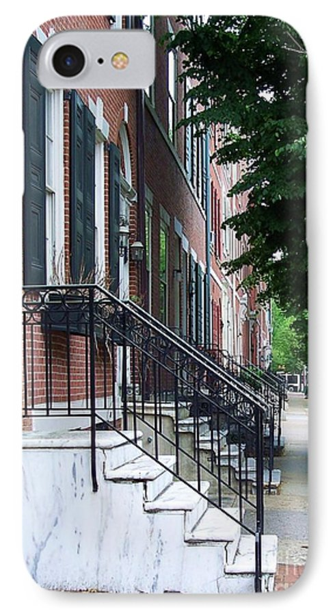 Architecture IPhone 7 Case featuring the photograph Philadelphia Neighborhood by Debbi Granruth