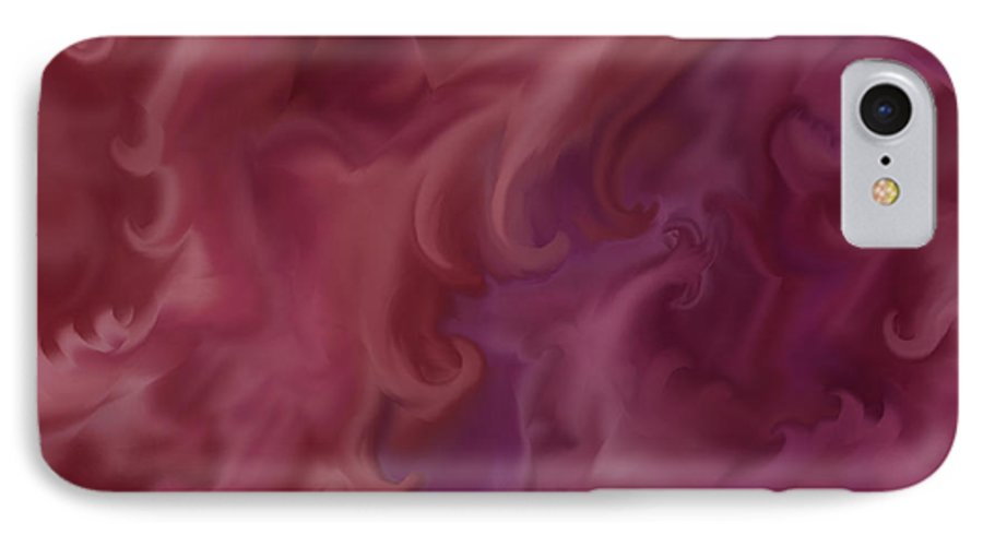 Fantasy IPhone 7 Case featuring the painting Phoenix Rising by Anne Norskog
