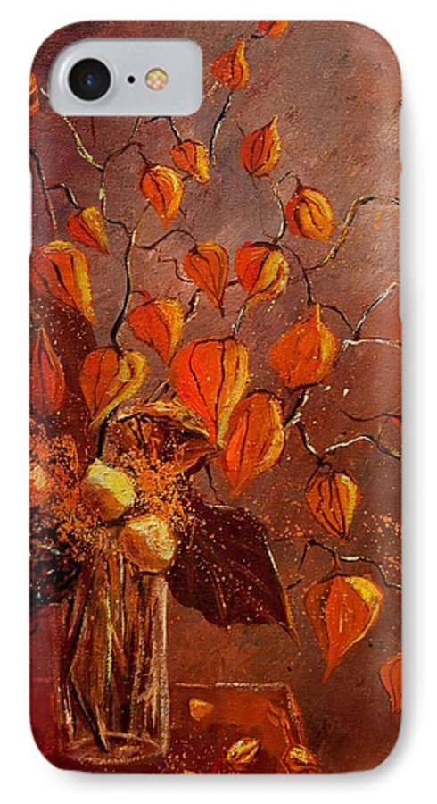 Poppies IPhone 7 Case featuring the painting Physialis by Pol Ledent