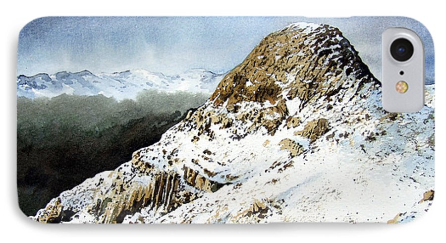 Pike O' Stickle IPhone 7 Case featuring the painting Pike O' Stickle by Paul Dene Marlor