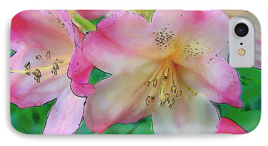 Ebsq IPhone 7 Case featuring the photograph Pink Azalea by Dee Flouton
