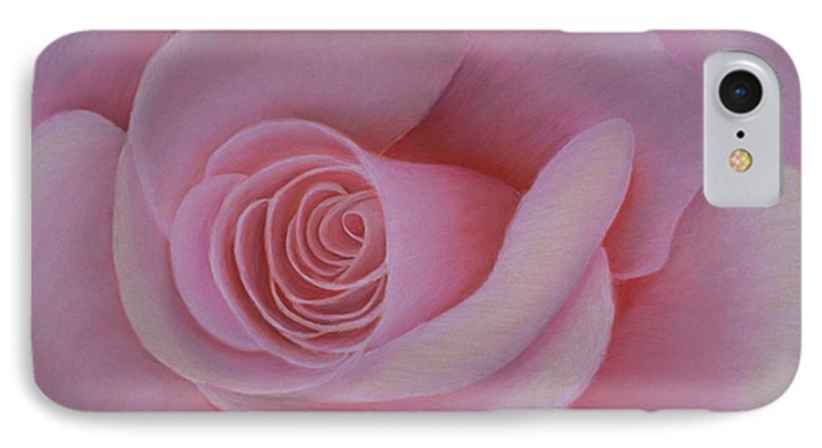 Rose IPhone 7 Case featuring the painting Pink Blush by Mary Erbert