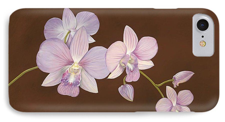 Orchid IPhone 7 Case featuring the painting Pink Orchids by Shawn Stallings