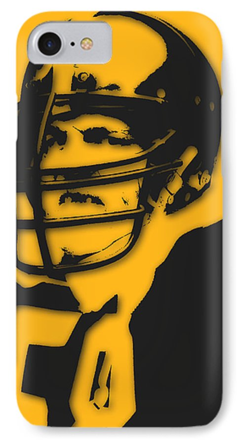 steelers iphone 7 case featuring the photograph pittsburgh steelers jack lambert by joe hamilton