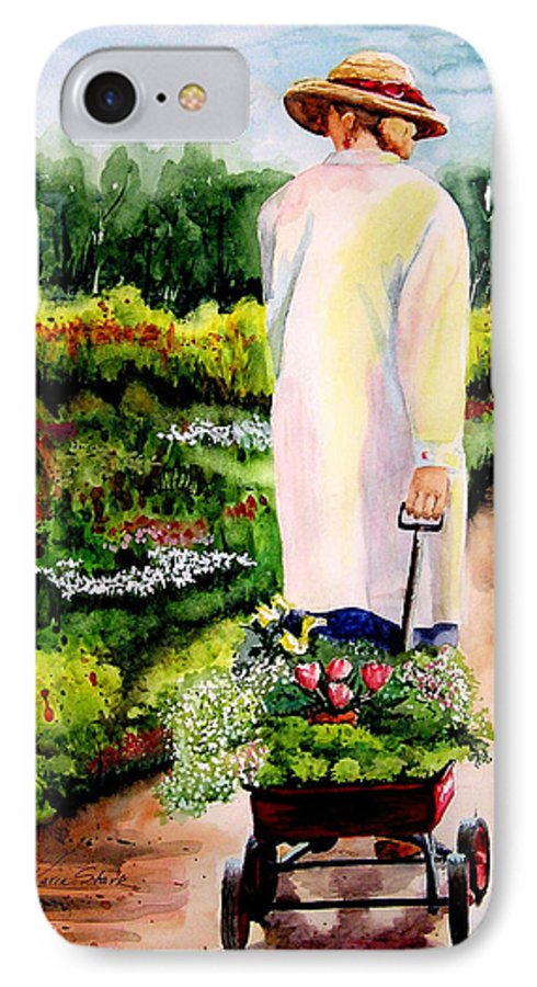 Garden IPhone 7 Case featuring the painting Planting Plans by Karen Stark