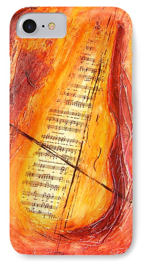 Music IPhone 7 Case featuring the painting Poesial Visual by Ivan Guaderrama