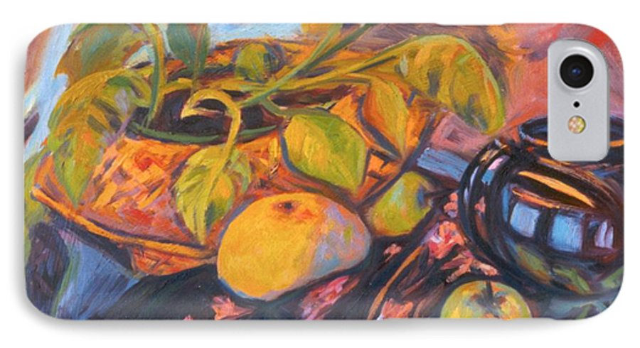 Still Life IPhone 7 Case featuring the painting Pollys Plant by Kendall Kessler
