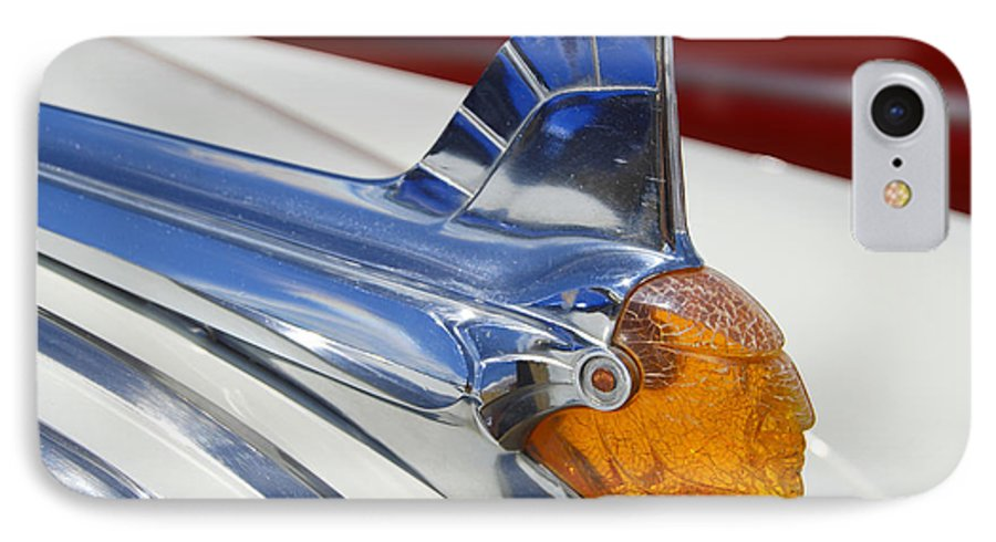 Pontiac IPhone 7 Case featuring the photograph Pontiac Hood Ornament by Larry Keahey