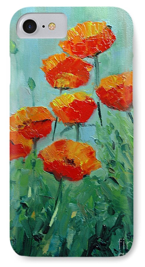 Floral IPhone 7 Case featuring the painting Poppies For Sally by Glenn Secrest