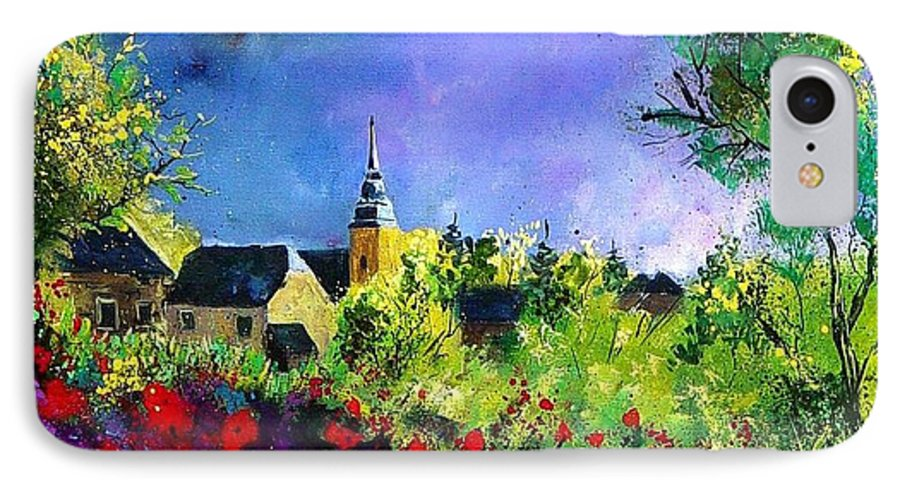 Flowers IPhone 7 Case featuring the painting Poppies In Villers by Pol Ledent