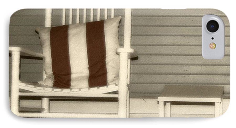 Rocking Chair IPhone 7 Case featuring the photograph Porch Rocker by Debbi Granruth