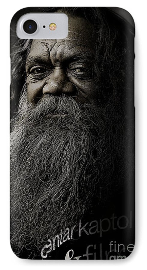 Aboriginal IPhone 7 Case featuring the photograph Portrait Of Cedric by Sheila Smart Fine Art Photography