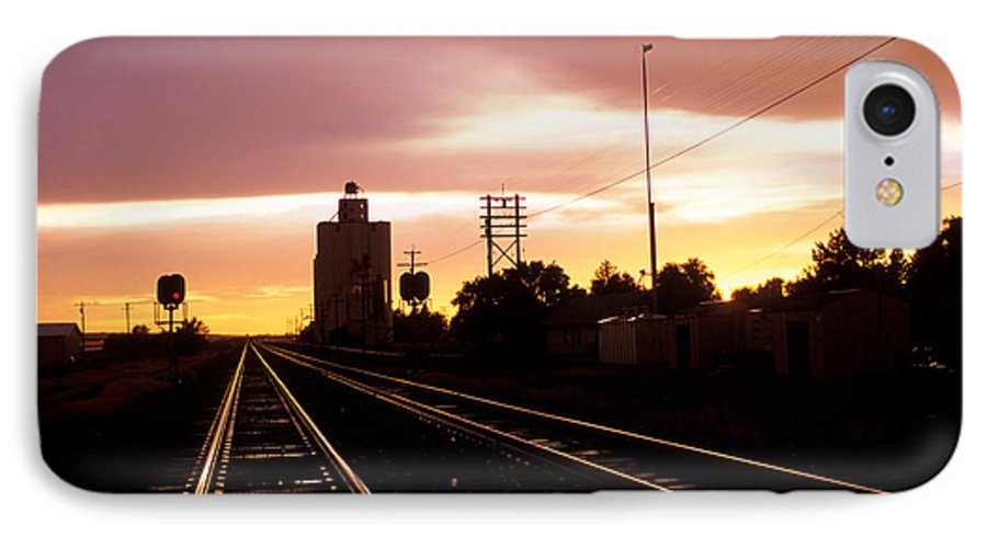 Potter IPhone 7 Case featuring the photograph Potter Tracks by Jerry McElroy