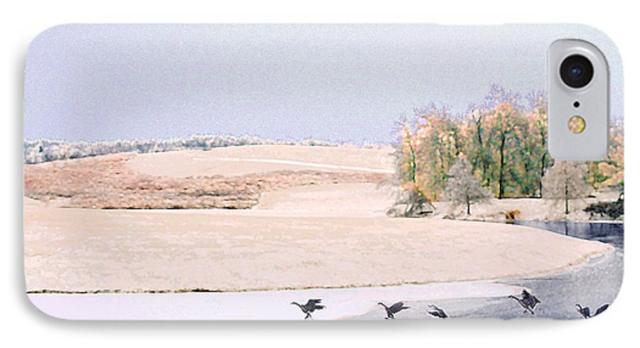 Landscape IPhone 7 Case featuring the photograph Powell Gardens In Winter by Steve Karol