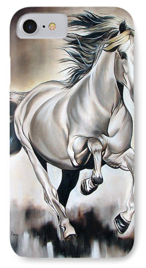 Horse IPhone 7 Case featuring the painting Power by Ilse Kleyn
