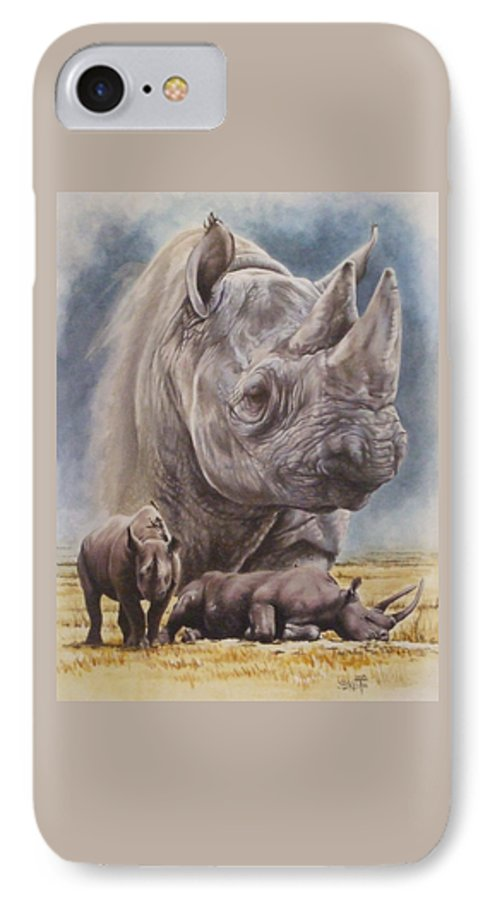 Wildlife IPhone 7 Case featuring the mixed media Precarious by Barbara Keith