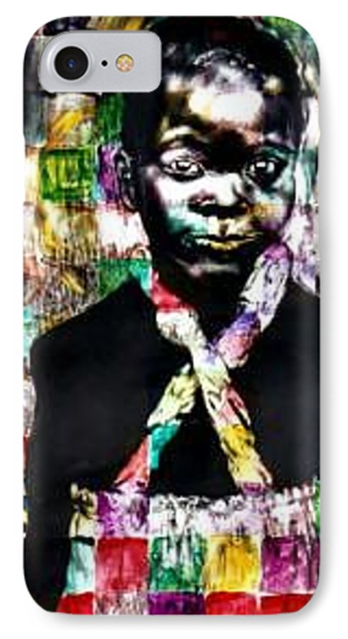 Portrait IPhone 7 Case featuring the mixed media Precious by Chester Elmore