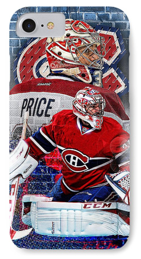 Carey Price IPhone 7 Case featuring the digital art Price Phone Cover 2 by Nicholas Legault