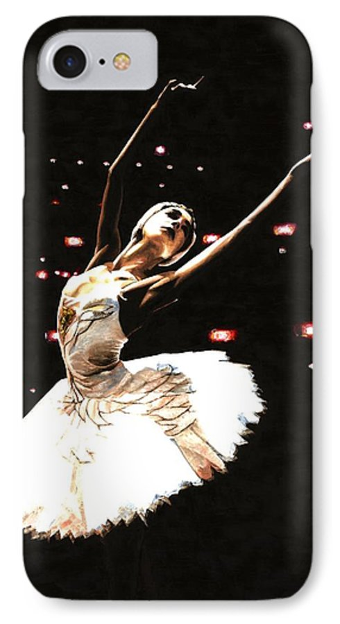 Prima Ballerina IPhone 7 Case featuring the painting Prima Ballerina by Richard Young