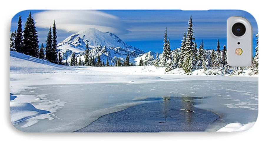 Rainier IPhone 7 Case featuring the photograph Pristine by Mike Dawson