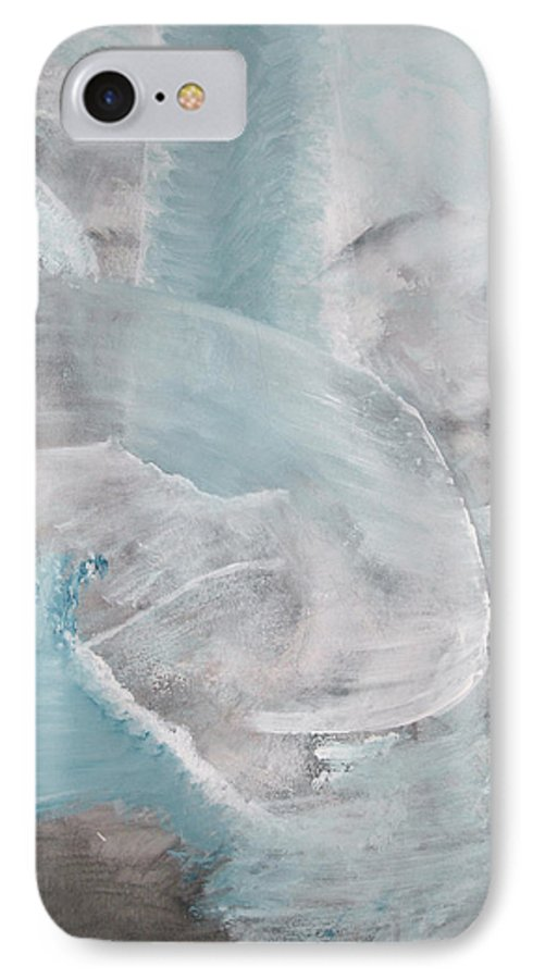 Abstract Acrylic Darkestartist Landscape Painting Waterfall Blue Water IPhone 7 Case featuring the painting Private Waterfall by Darkest Artist