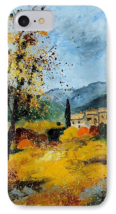 Provence IPhone 7 Case featuring the painting Provence 45 by Pol Ledent