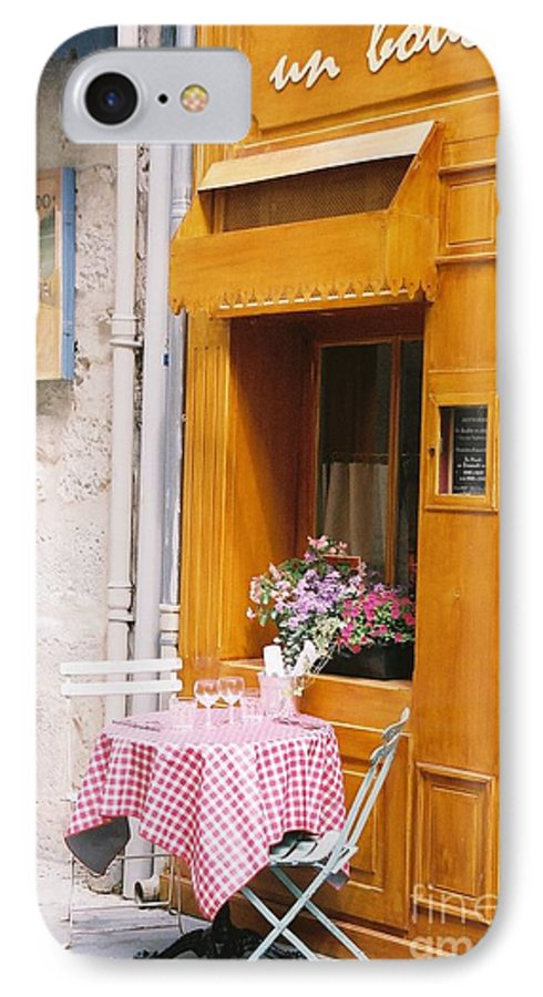 Cafe IPhone 7 Case featuring the photograph Provence Cafe by Nadine Rippelmeyer