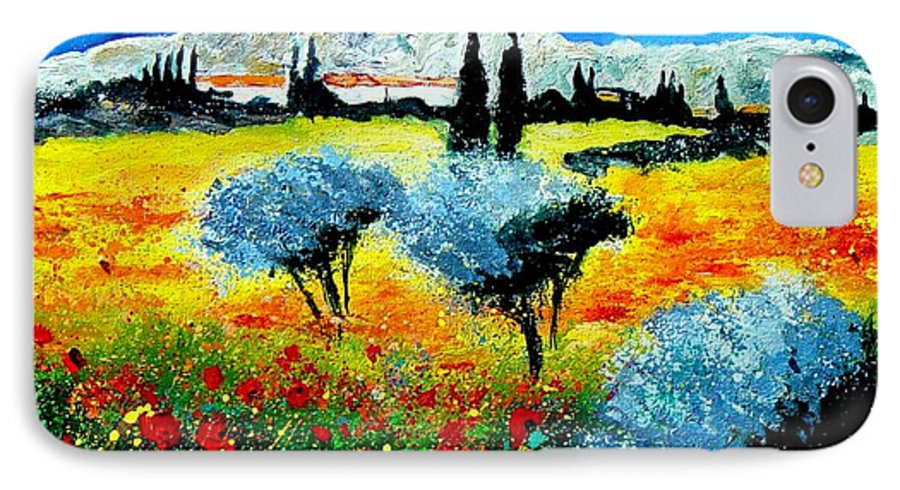 Poppies IPhone 7 Case featuring the painting Provence by Pol Ledent