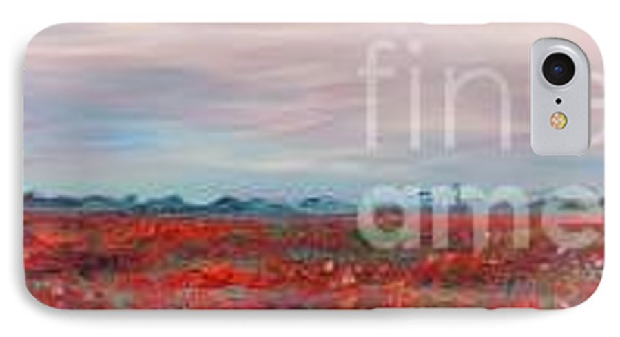 Poppies IPhone 7 Case featuring the painting Provence Poppies by Nadine Rippelmeyer