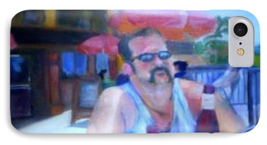 Daytona IPhone 7 Case featuring the painting Pub by Sheila Mashaw