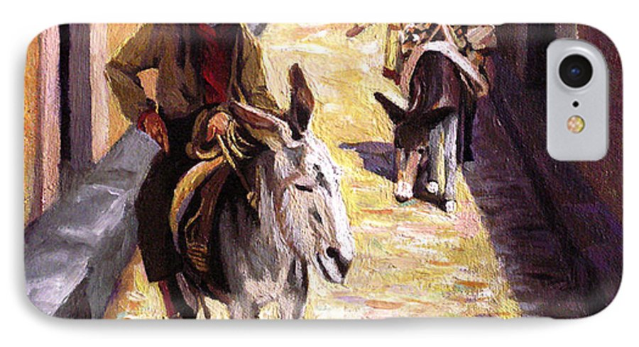Impressionism IPhone 7 Case featuring the painting Pulling Up The Rear In Mexico by Nancy Griswold