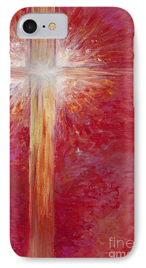 Light IPhone 7 Case featuring the painting Pure Light by Nadine Rippelmeyer
