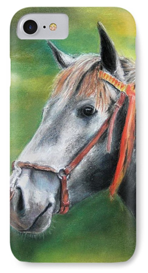 Horse IPhone 7 Case featuring the painting Pure Spanish by Ceci Watson