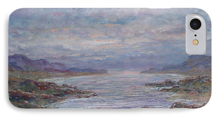 Painting IPhone 7 Case featuring the painting Quiet Bay. by Leonard Holland