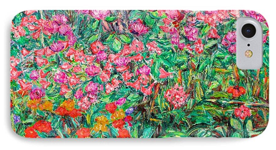 Kendall Kessler IPhone 7 Case featuring the painting Radford Flower Garden by Kendall Kessler
