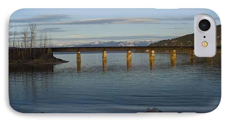 Bridge IPhone 7 Case featuring the photograph Railroad Bridge Over The Pend Oreille by Idaho Scenic Images Linda Lantzy