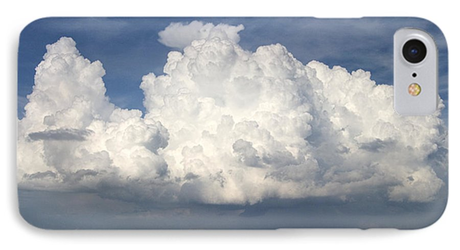 Clouds IPhone 7 Case featuring the photograph Rain Clouds Over Lake Apopka by Carl Purcell