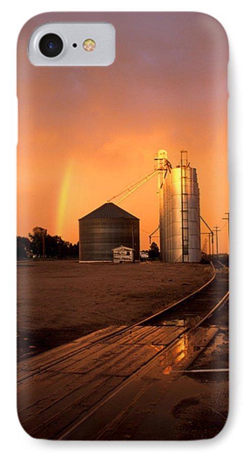 Potter IPhone 7 Case featuring the photograph Rainbow In Potter by Jerry McElroy