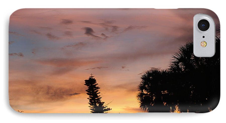Sunset IPhone 7 Case featuring the photograph Rainbow Sunset by Rob Hans