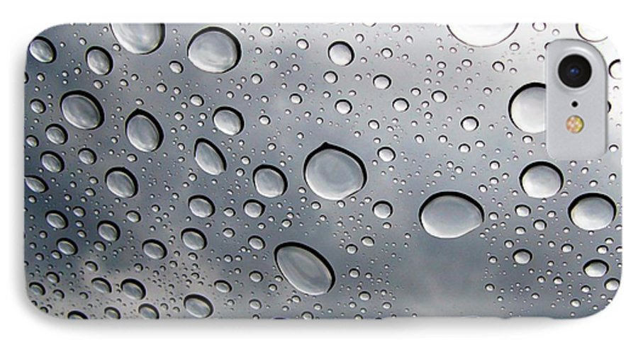 Rain IPhone 7 Case featuring the photograph Raindrops by Kenna Westerman