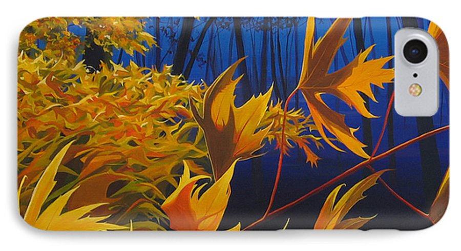 Autumn Leaves IPhone 7 Case featuring the painting Raucous October by Hunter Jay
