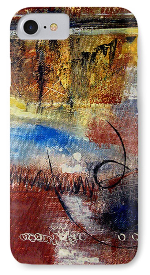 Abstract IPhone 7 Case featuring the painting Raw Emotions by Ruth Palmer