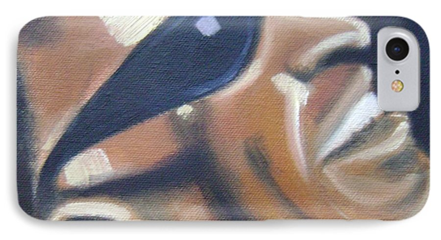 Ray Charles IPhone 7 Case featuring the painting Ray Charles by Toni Berry