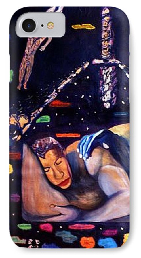 Nudes IPhone 7 Case featuring the painting Realities Which Will Be Artifacts by Stephen Mead