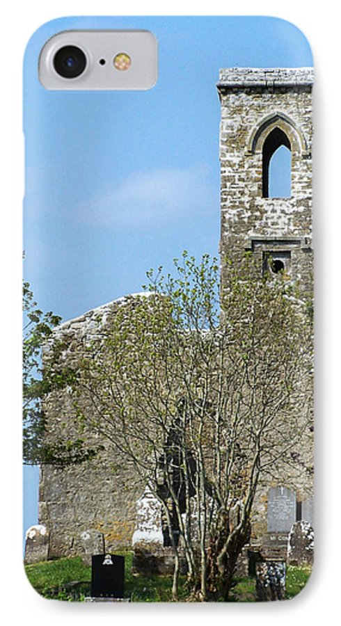 Fuerty IPhone 7 Case featuring the photograph Rear View Fuerty Church And Cemetery Roscommon Ireland by Teresa Mucha